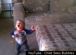 YouTube: Child Sees Bubbles