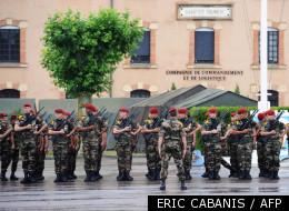 Des militaires à Montauban le 7 juin 2011 durant une cérémonie