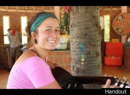 An photo of Aubrey Sacco, a US hiker missing in Nepal.