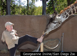 Motivational speaker Tom Willis, who was born without arms or hands, recently got to fulfill a longtime dream at the San Diego Zoo when he fed a giraffe with his toes. He said the