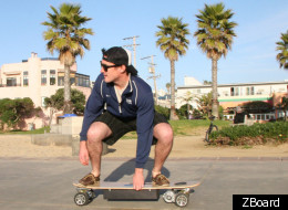 Joy Ride: The creators of the ZBoard, the world's first weight-sensing electronic skateboard, just raised $190,000 on Kickstarter.