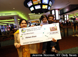 Afsheen Ashan, who won one million dollars in the New York Lottery, says her 2-year-old daughter picked the winning ticket.