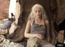 Emilia Clarke as Daenerys Targaryen in