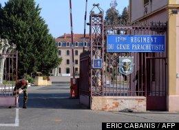 La caserne du 17ème régiment du Génie parachutiste à Montauban, le 16 mars 2012