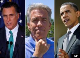 U.S. Rep Joe Walsh (center) believes Mitt Romney has the best chance of defeating President Obama in November.