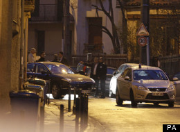 French Police Surround A House In Raid On Suspect