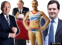 Alan Sugar, Boris Johnson, Jessica Ennis and George Osborne