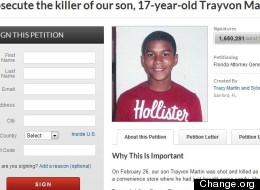 Une pancarte de soutien à Trayvon Martin lors d'une manifestation à Los Angeles le 23 mars