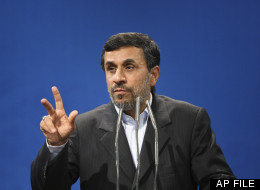 In this Oct. 29, 2011 file photo, Iranian President Mahmoud Ahmadinejad gestures as he delivers a speech during a meeting with guests of The Press Union of the Islamic World, at the presidency compound, Tehran, Iran. (AP Photo/Vahid Salemi, File)