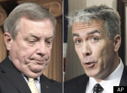 U.S. Rep. Joe Walsh (right) slammed U.S. Sen. Dick Durbin (left) for his plan to set up a Judiciary Committee hearing about bounties in professional football.