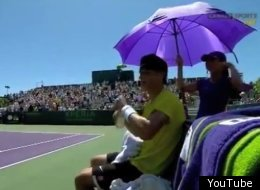 Rising tennis star Bernard Tomic wasn't too pleased with his father/coach at the Sony Ericsson Open.