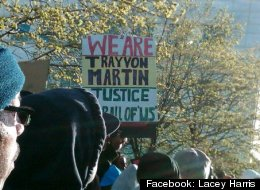 Detroiters rally In remembrance of Trayvon Martin.