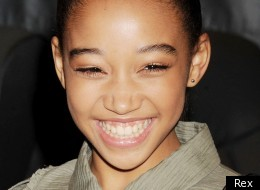 Actress Amandla Sternberg, who plays Rue in the film