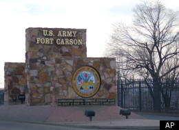 One of the entrance signs to Fort Carson is seen in the Feb. 2007 photo.