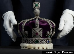 The Imperial State Crown is set with nearly 3,000 diamonds