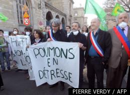Yves Contassot et Denis Baupin (de gauche à droite) à Paris le 28 mars 2012