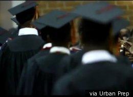 Urban Prep students at graduation.