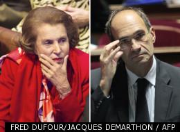 Liliane Bettencourt et Eric Woerth, trésorier de l'UMP et président de l'Association de financement pour la campagne de Nicolas Sarkozy en 2007