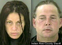 Susan Stickle and Eric Bachman were arrested last week after a drunk and disorderly bout in which Stickle allegedly went topless for cops.