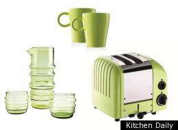 Pistachio Colored Kitchen Accessories