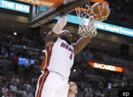 LeBron scores a season-high in Miami's win over Philadelphia.