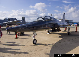 T-38 jets, like this one seen in Houston, will fly over D.C. on Thursday morning.