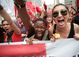 Plus de 200 000 personnes ont participé à la manifestation du 22 mars 2012. (PC)