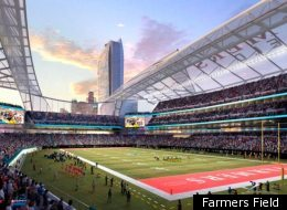 A rendering of the proposed Farmers Field.