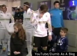 Soccer player Iker Casillas generously shared his snot with a little boy.