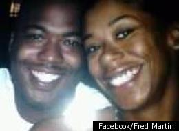 Fredrick Martin, 28, was fatally shot in Inglewood as he shielded his 8-year-old son from gunfire. He is shown here with his wife, Amanda Martin.