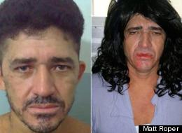 Ronaldo Silva as he looks normally and how he looked in his disguise