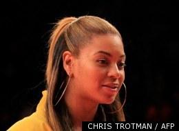 Beyoncé assiste à un match de basket entre les New York Knicks et les New Jersey Nets au Madison Square Garden en février dernier