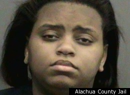 Shenay J. Jackson, 19, of Gainesville, Fla., is accused of pouring bleach onto the lap of her ex-boyfriend while he was driving.