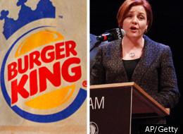 Burger King logo (L) Christine Quinn (R)