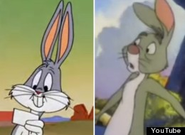 TV bunnies in honor of Easter: Greg the Bunny, Bugs Bunny and Rabbit from