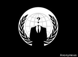 Anonymous is known for is symbolic use of Guy Fawkes masks, as made popular in the Alan Moore graphic novel 'V For Vengeance'