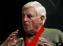 Bob Knight talks about his career during an induction ceremony into the National Collegiate Basketball Hall of Fame.