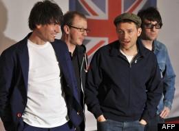 Alex James,Dave Rouwntree,Damon Albran et Graham Coxon au Brit Awards le 21 février 2012 à Londres.