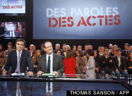 Le plateau de l'émission Des paroles et des actes de France2