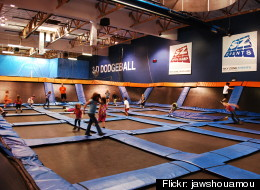Children play at a Sky Zone facility.