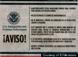 The U.S. Immigration and Customs Enforcement is taking out ads in Mexican newspapers warning job-seekers about falling prey to deceitful offers of drug trafficking groups.