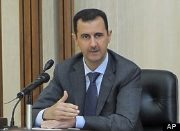 In this Aug. 17, 2011, photo released by the Syrian official news agency SANA, Syrian President Bashar Assad addresses a meeting of the central committee of the Baath party in Damascus, Syria. (AP Photo/SANA, File)