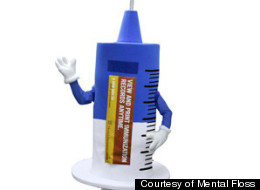 Pokey the syringe's mission is to spread the word about immunizations and hypodermic history.