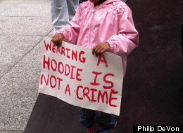 Chicagoans rallied for Trayvon Martin last month.