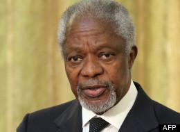 Kofi Annan, l'émissaire de l'ONU et de la Ligue arabe, en avril 2012