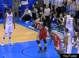 Blake Griffin flops against the Thunder