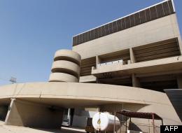 Façade arrière du Gymnase de Bagdad réalisé par Le Corbusier dans les années 50