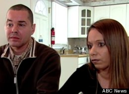 Josue Chinchilla (left) and his fiance, Michele Callan (right), say their home is inhabited by ghosts (not pictured).