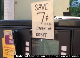 This Shell station in Arlington, Va., is one of just a handful of gas stations offering discounts on gas purchases with a debit card.