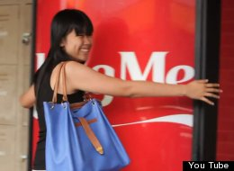 The National University of Singapore is home to one of the world's most inviting Coke machines. The words